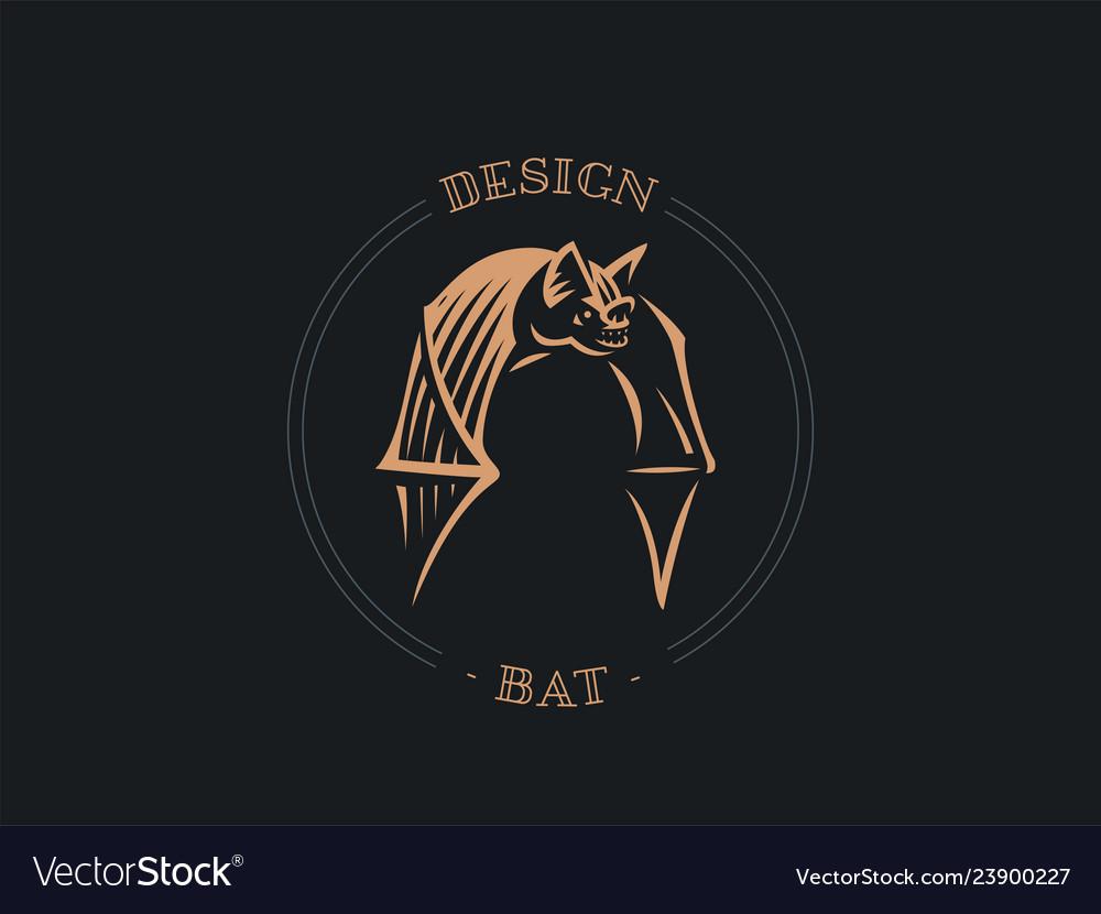 Bat flaps its big wings