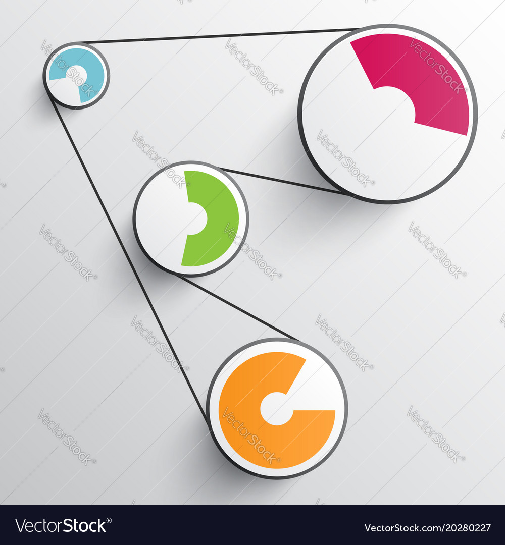 Business abstract infographics for advertising vector image