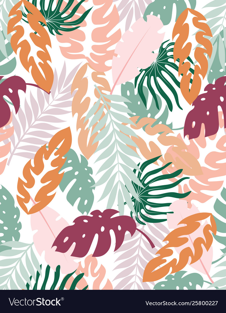 Creative floral background tropical