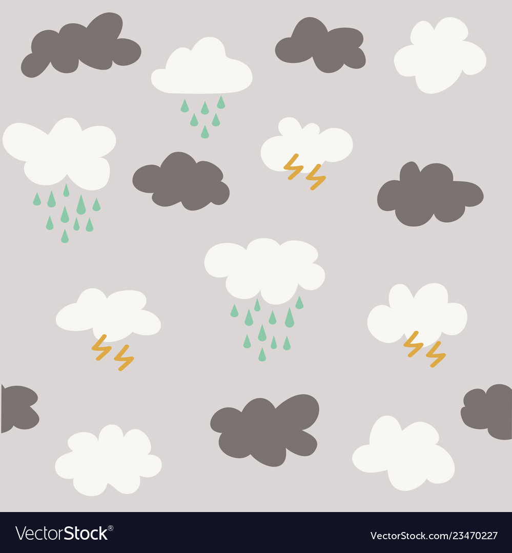 Cute baby cloud pattern seamless
