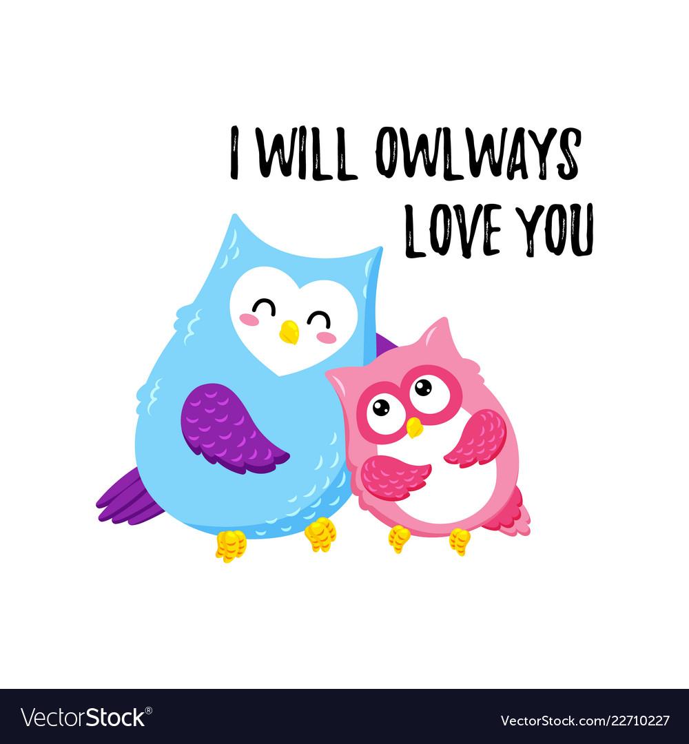 Cute cartoon owls template for printing