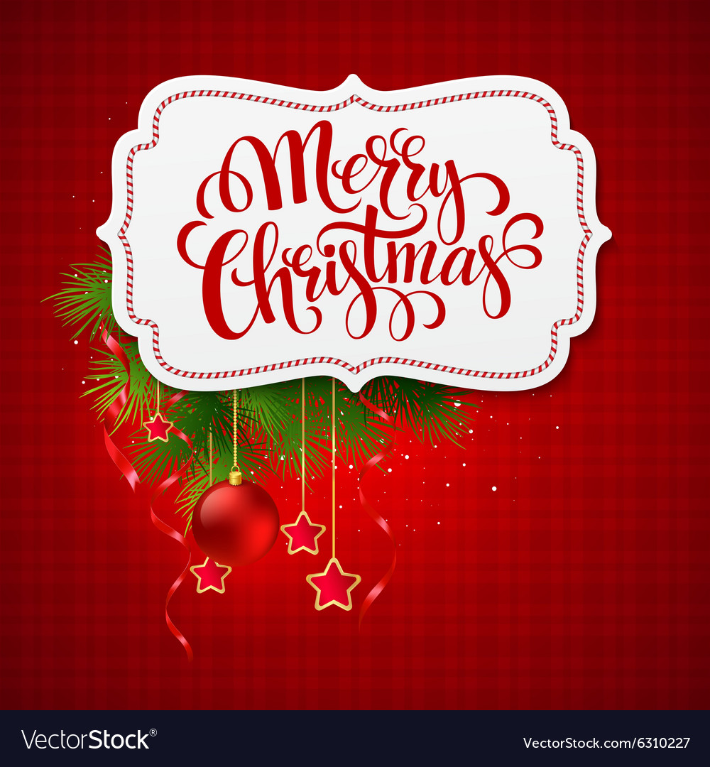 Merry Christmas Card Creative Label Royalty Free Vector