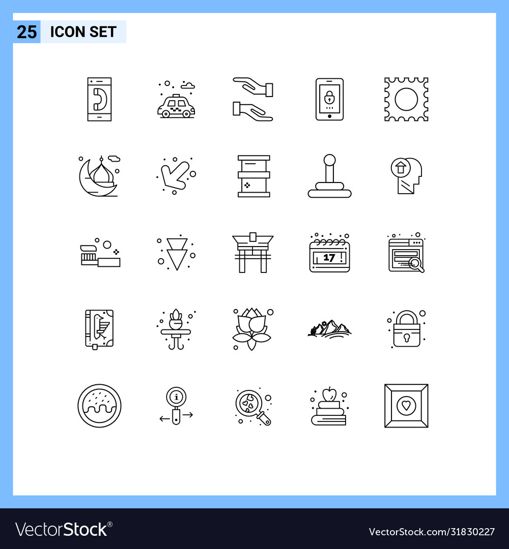 modern set 25 lines pictograph moon drug vector image modern set 25 lines pictograph moon drug vector image