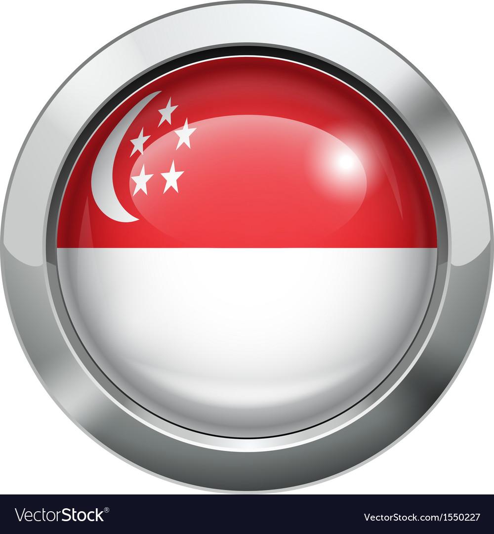 Singapore flag metal button