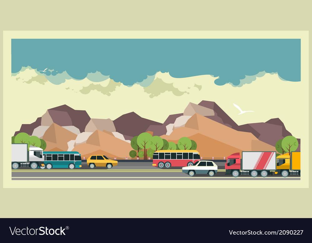 Transportation Background vector image