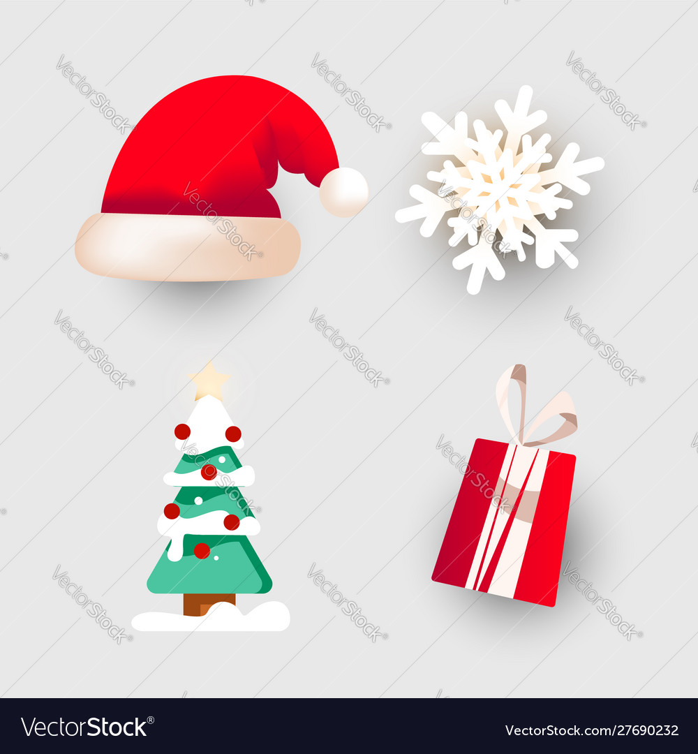 Christmas dabor for decorating banners postcards