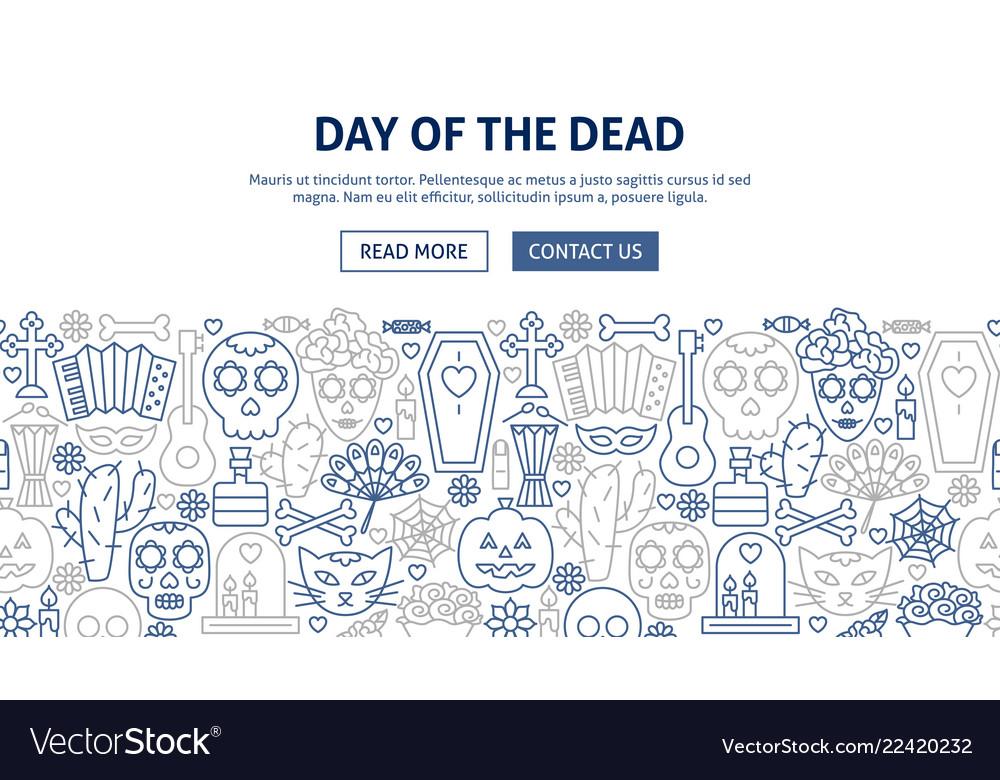 Day dead banner design
