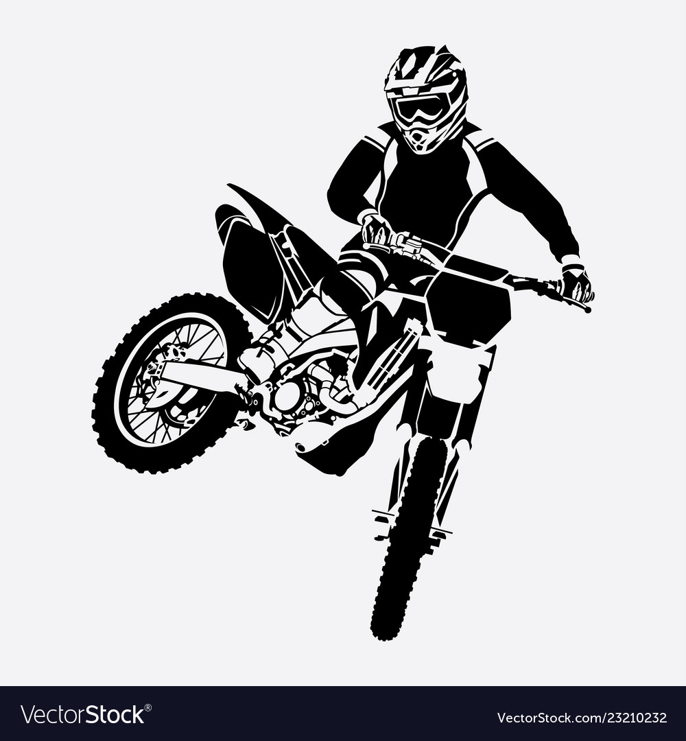 Freestyle Motocross Design Royalty Free Vector Image