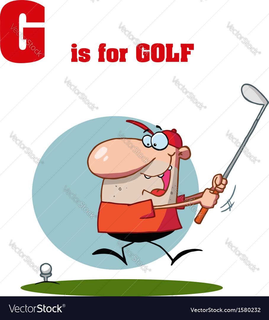 Golf Cartoon Royalty Free Vector Image Vectorstock