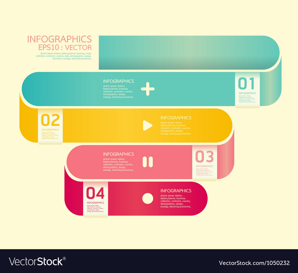 Modern Curve soft color Design template vector image