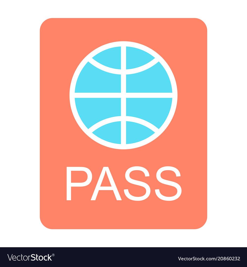 Passport icon simple minimal 96x96 pictogram