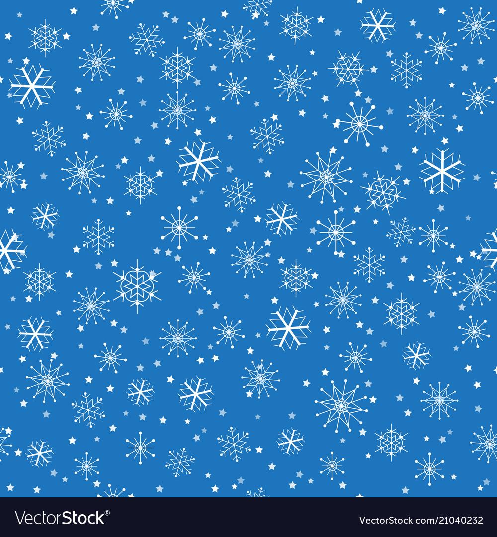 Seamless christmas snowflakes pattern