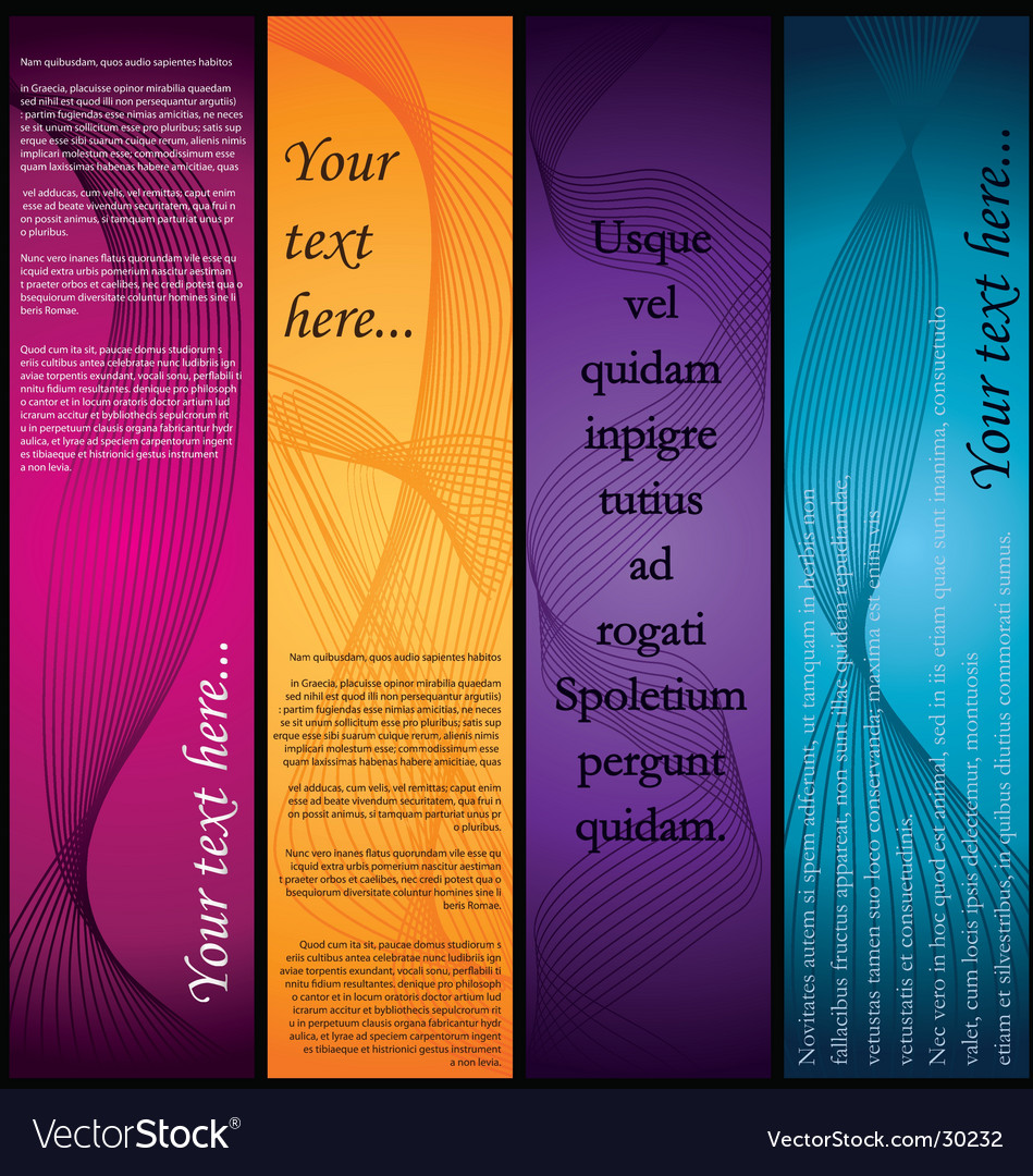 Vertical-banners vector image
