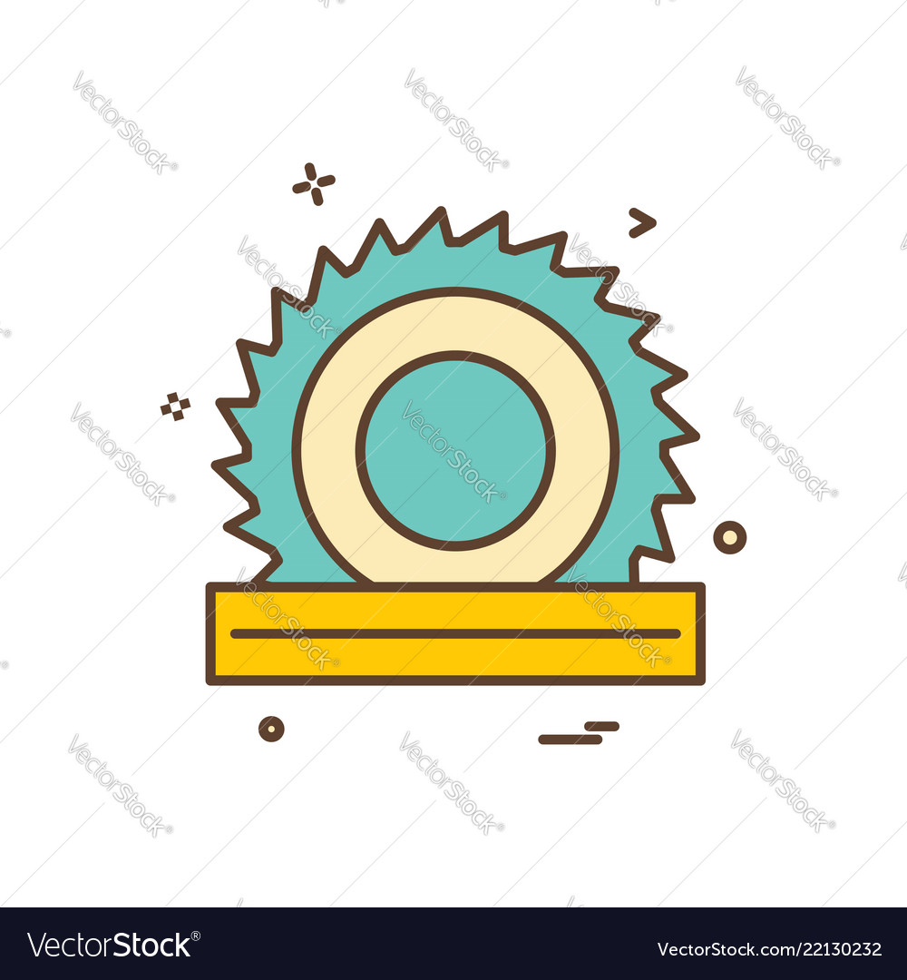 Wood cutter icon design