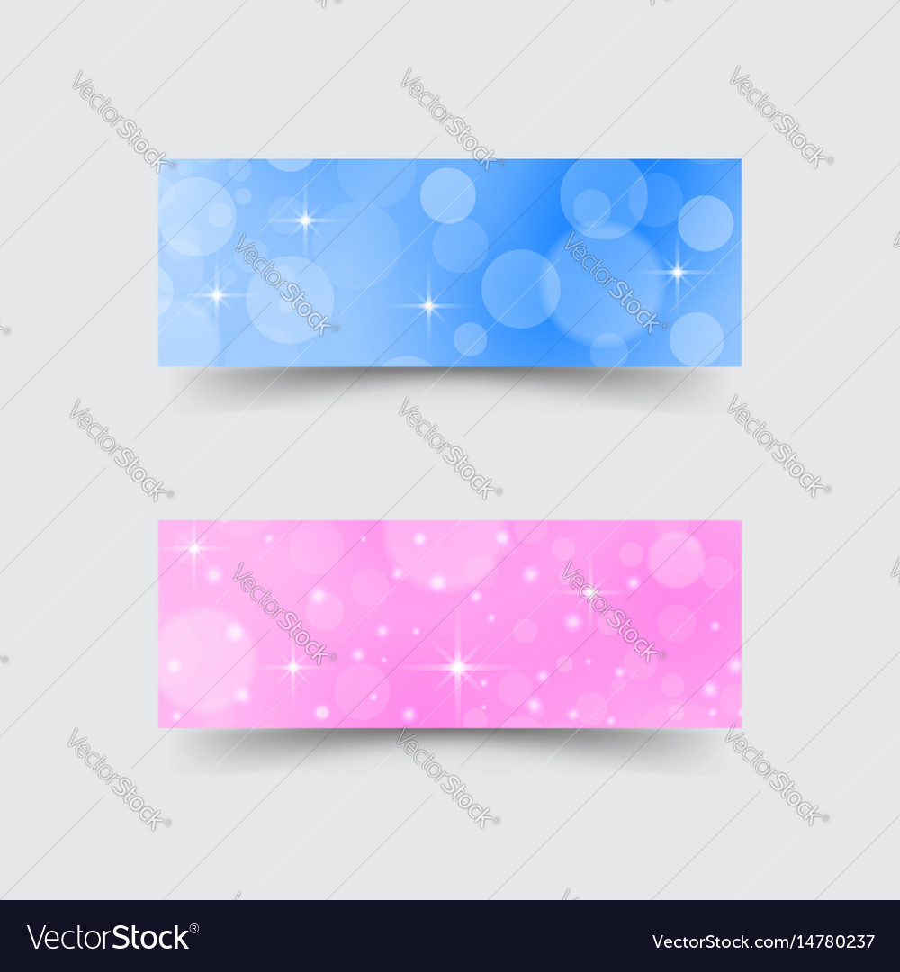 Banners with abstract circles and stars