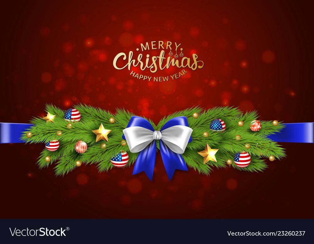 Christmas partiotic border of
