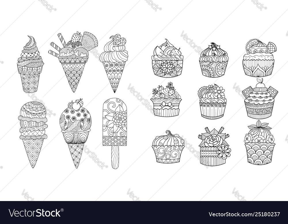Ice cream and cupcakes