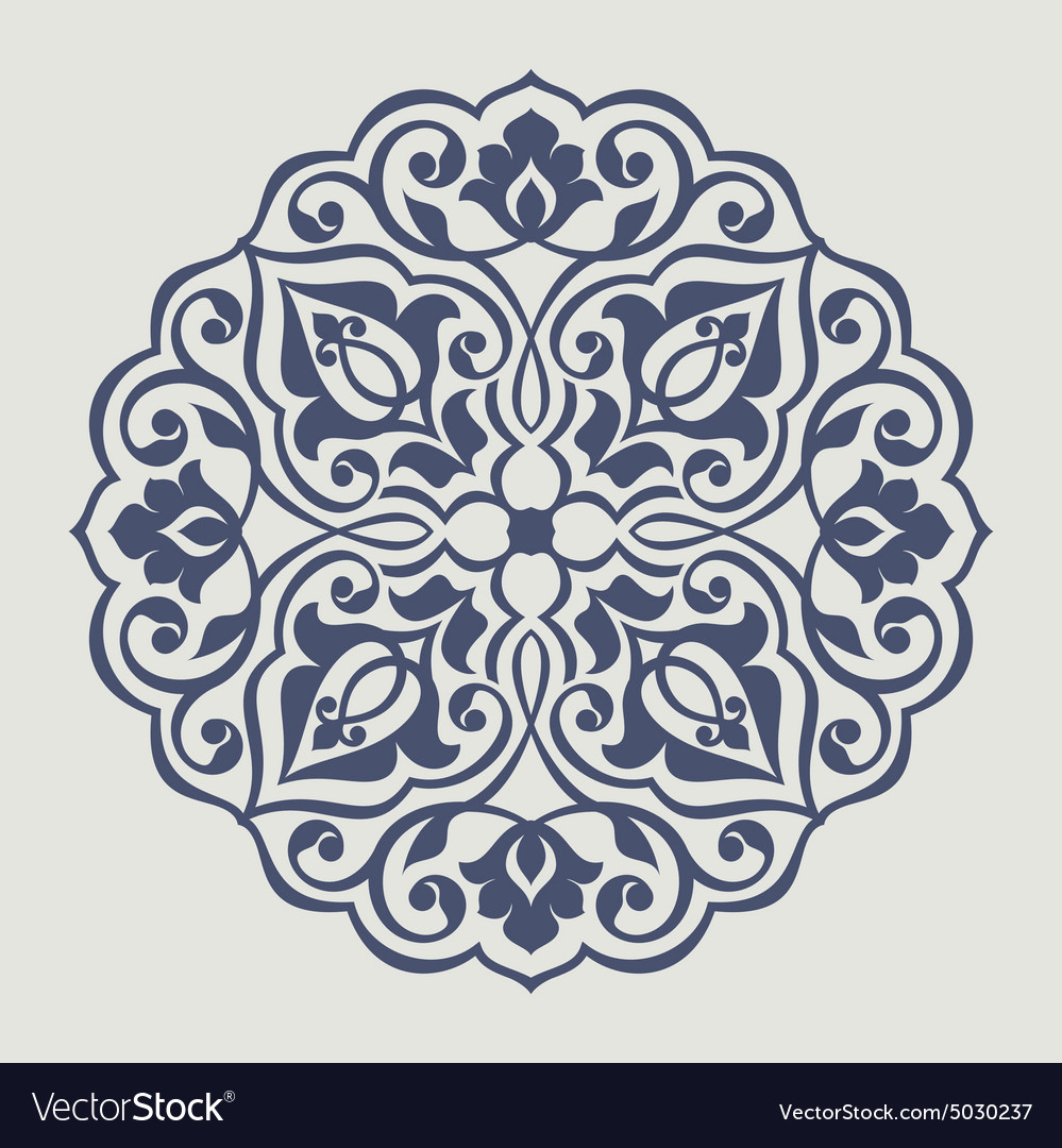 Persian Round Pattern Royalty Free Vector Image