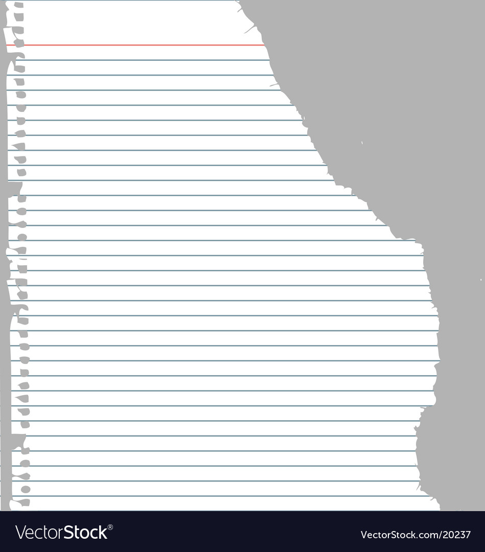Ripped notebook paper vector image