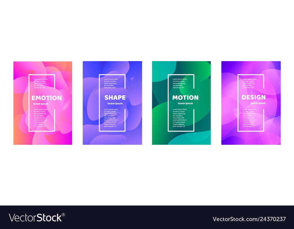 Set modern abstract banner flat
