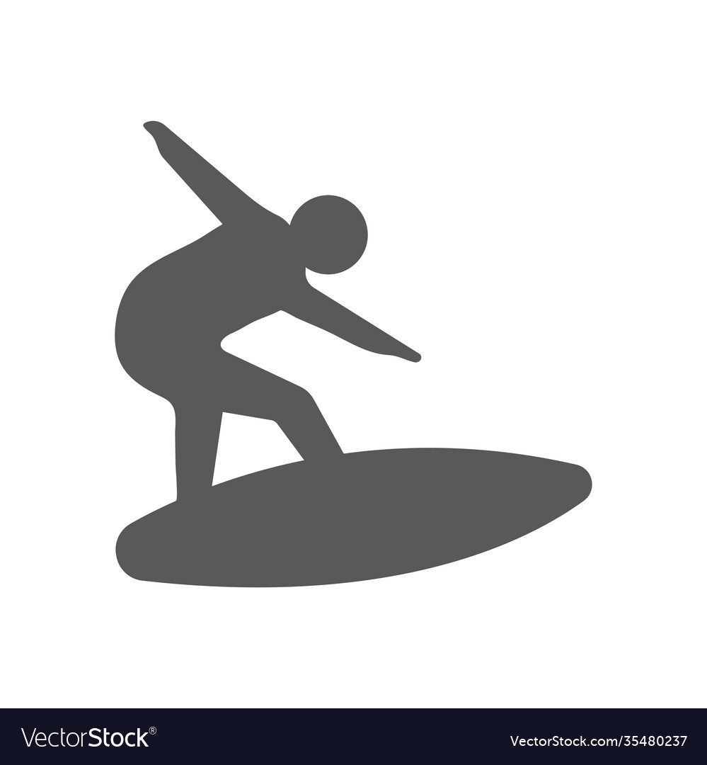 Surfing icon design template isolated