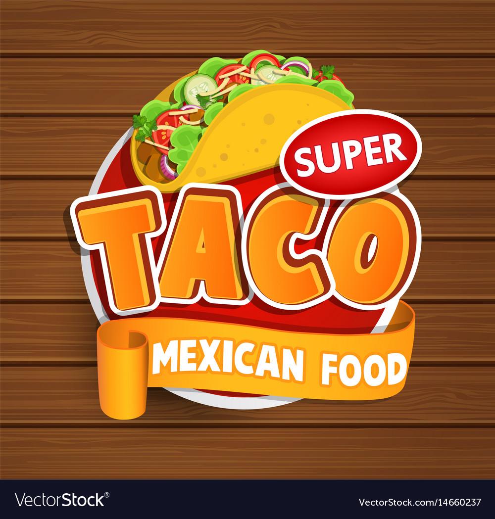 Taco label logo sticker