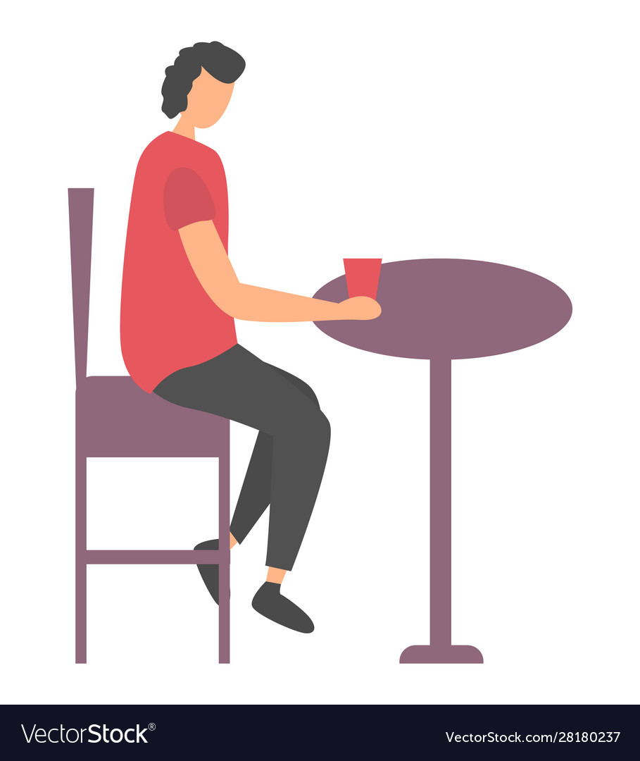 Woman sitting with cup at table leisure