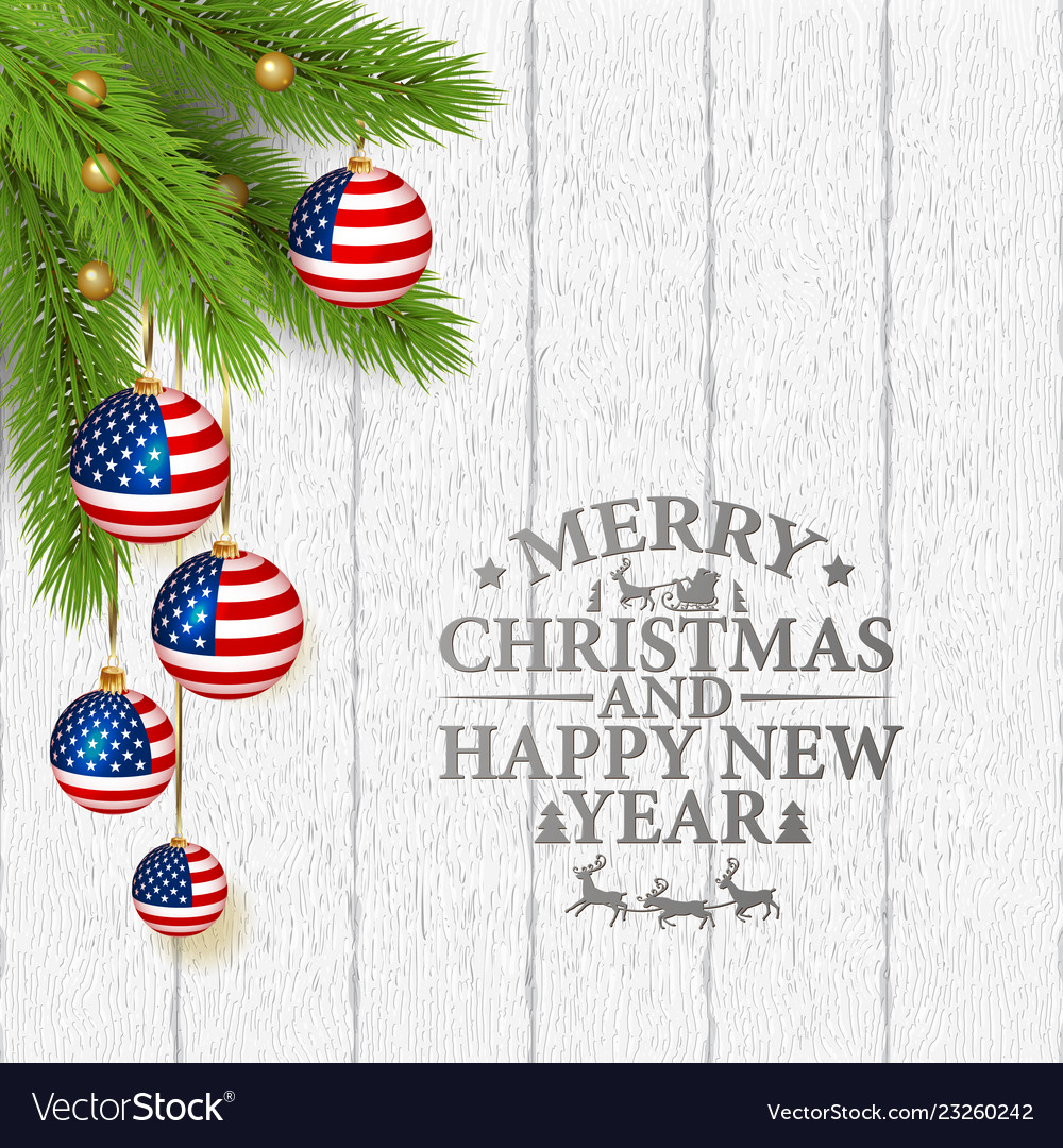 Patriotic Christmas Background.Abstract Christmas Background With