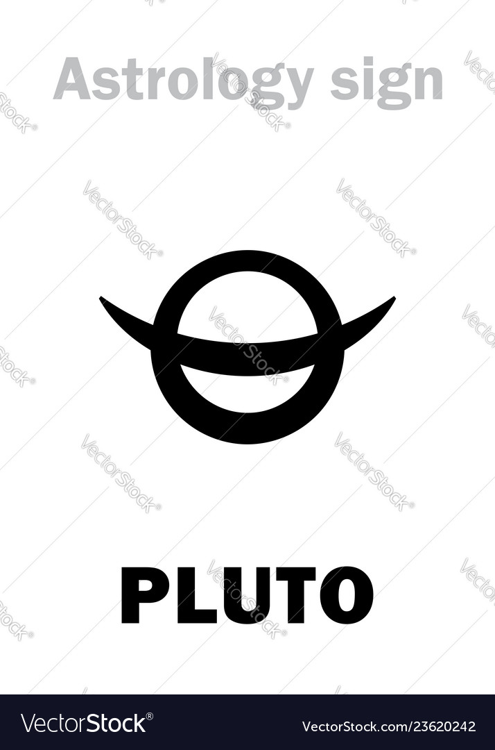 Astrology planet pluto vector image