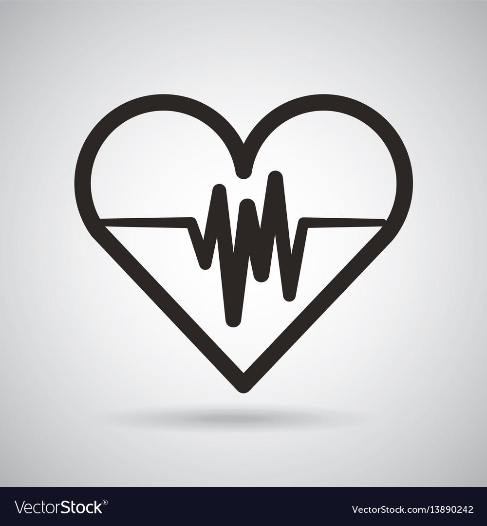 Cardio heart icon