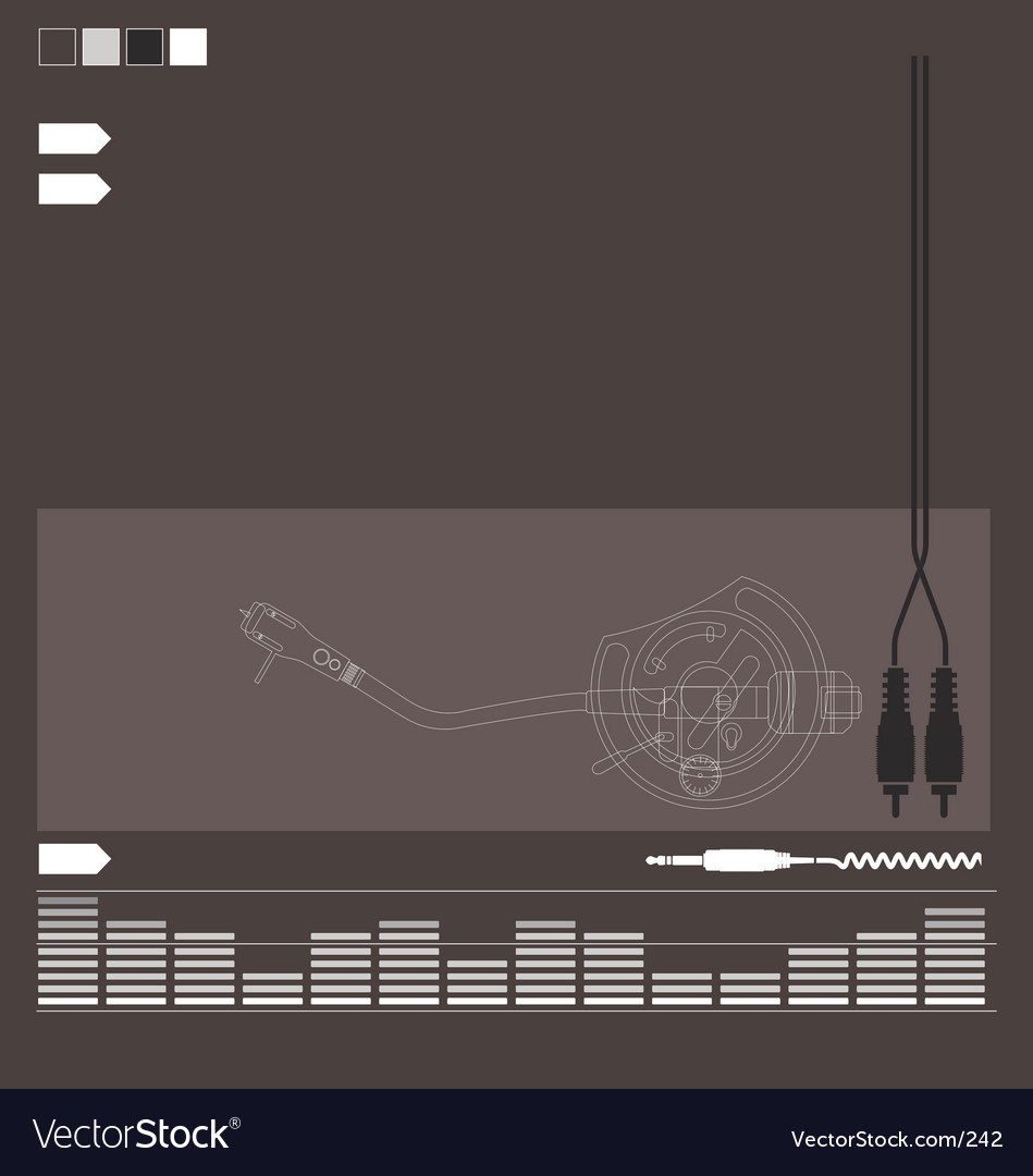 DJ audio elements vector image