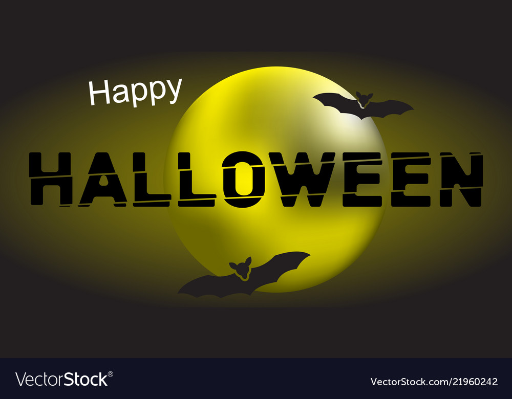 Happy halloween and moon