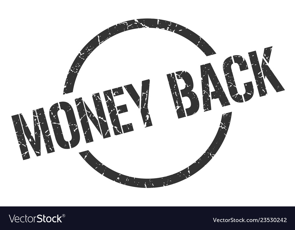 Money back stamp Vector Image
