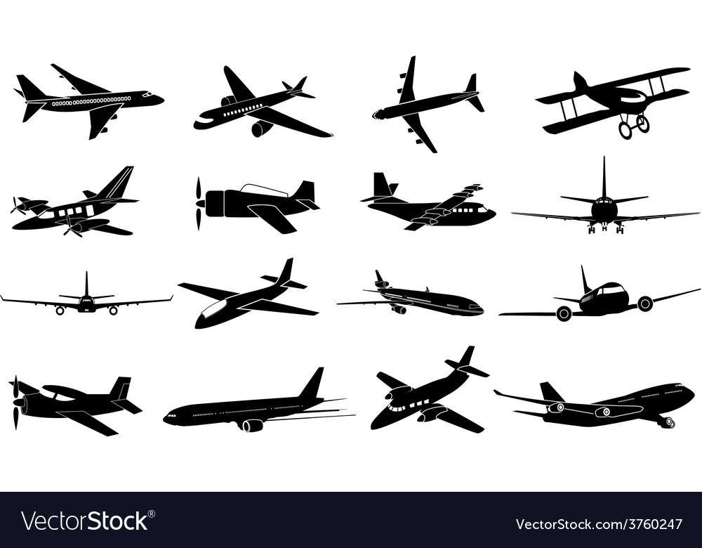 Air plane icons set