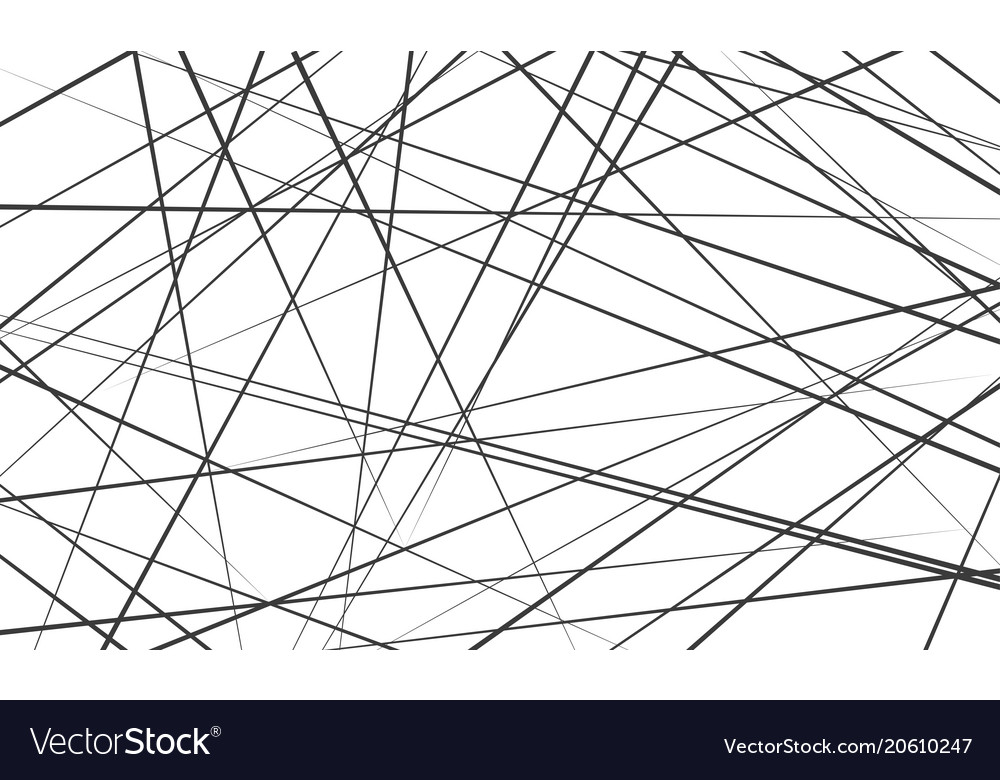 Chaotic Abstract Lines Pattern Background Vector Image Fascinating Line Pattern Vector
