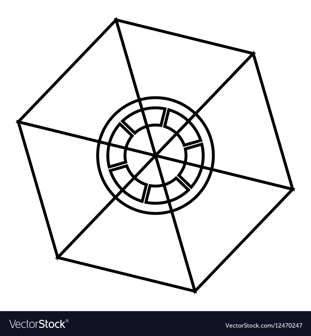 Chart statistics icon outline style vector image