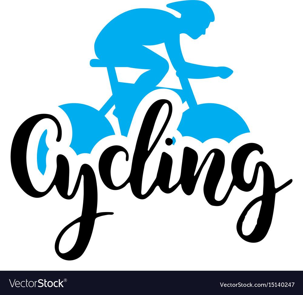 Cycling logo lettring vector image