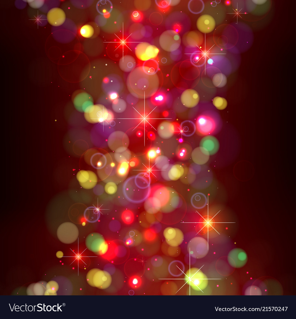 festive christmas background with lights vector image