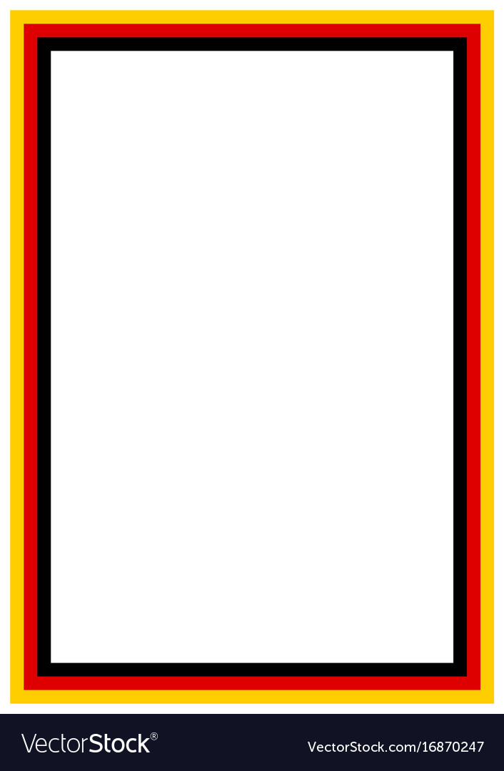 german flag page borderr a4 design for project vector image