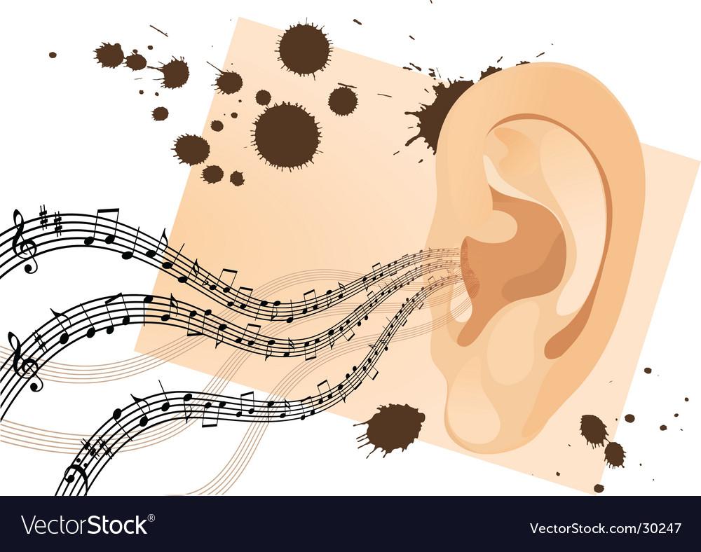 Grunge human ear