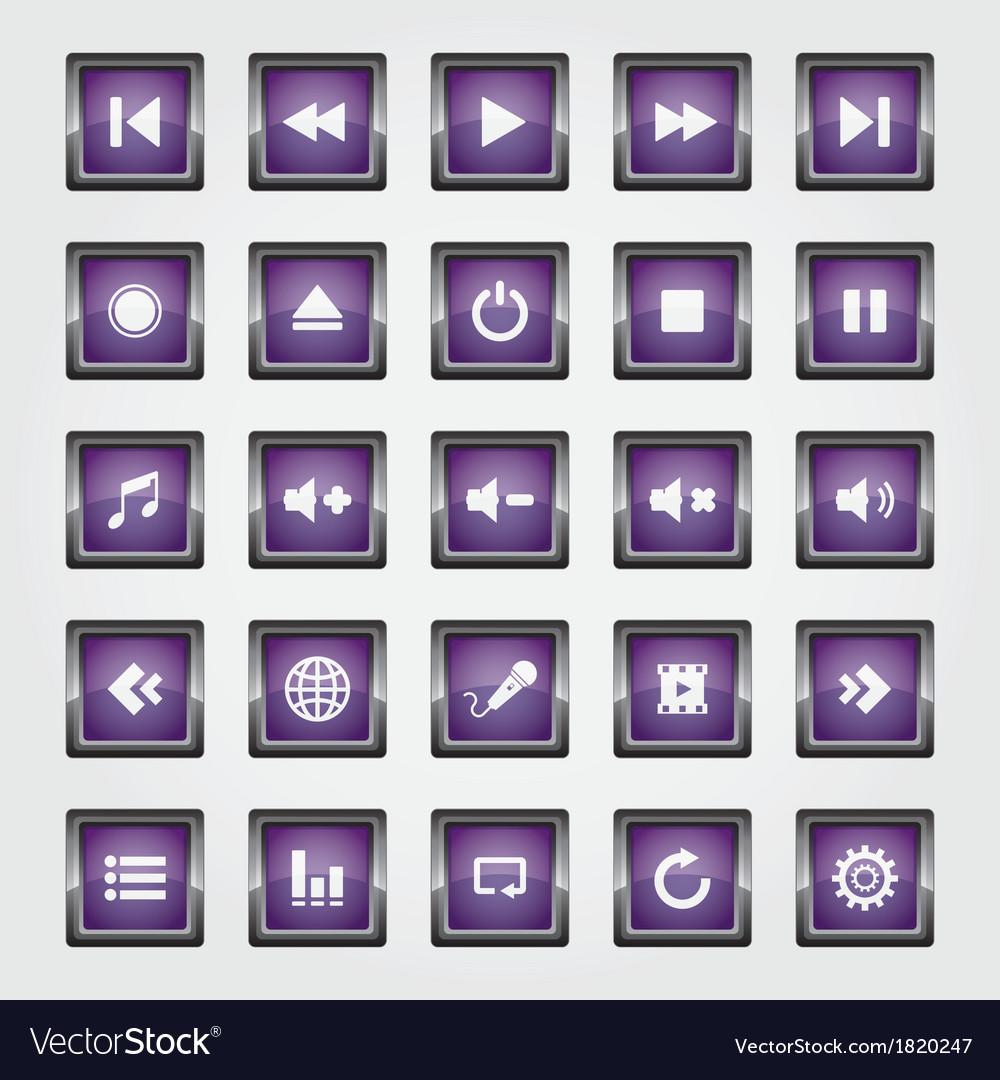 Media Button purple