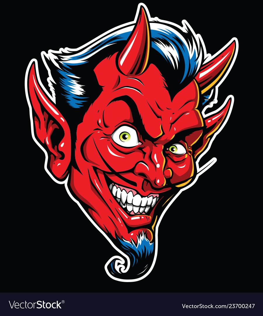 Rockabilly devil tattoo in ful