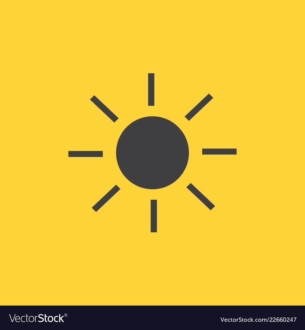 Siren flash icon isolated on yellow background