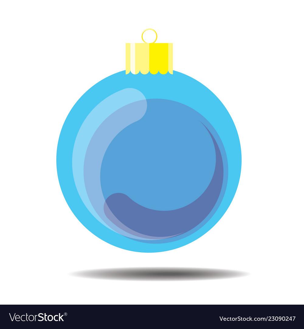 Sky blue christmas ball