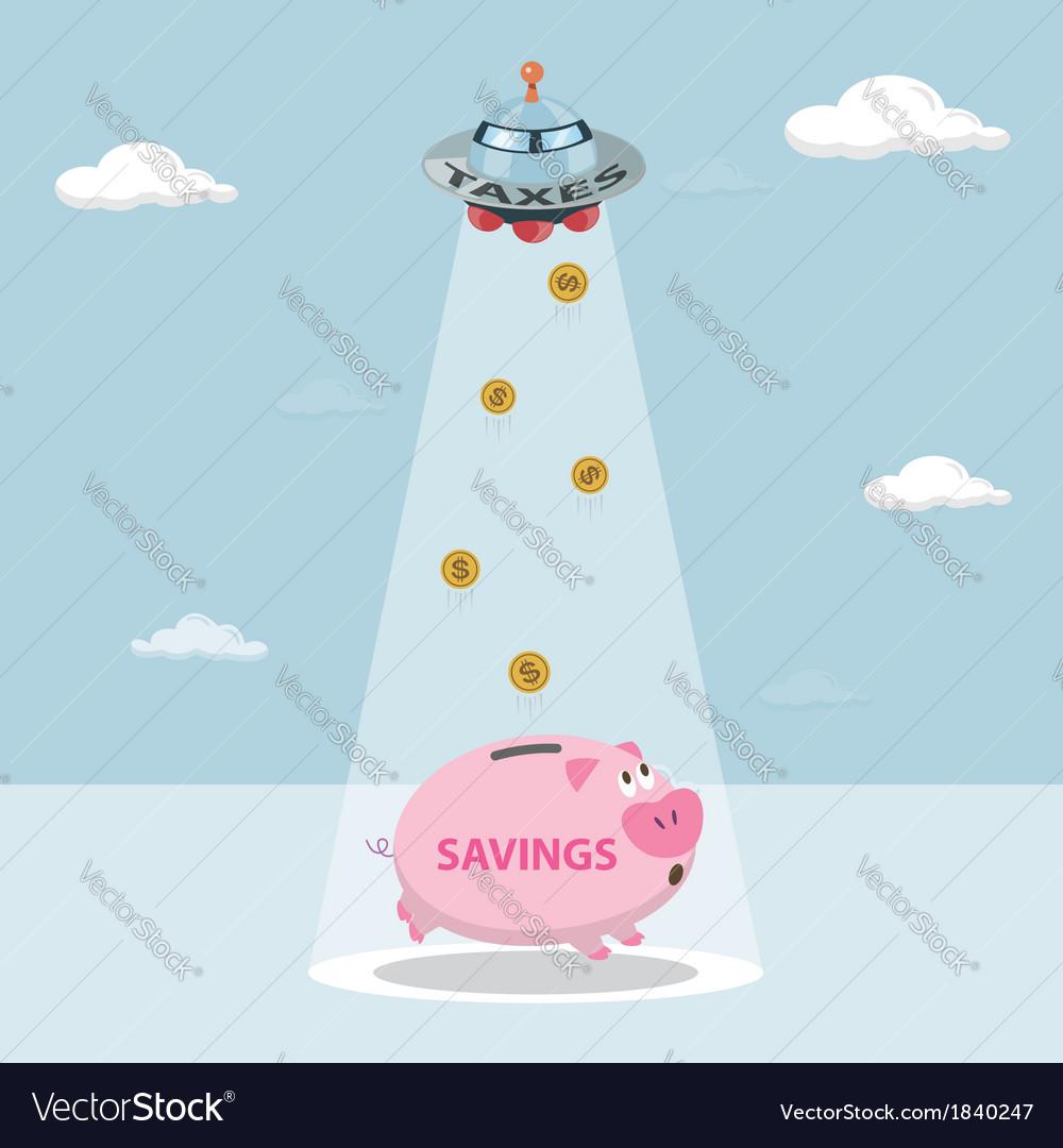 UFO tax savings are drawn from my savings
