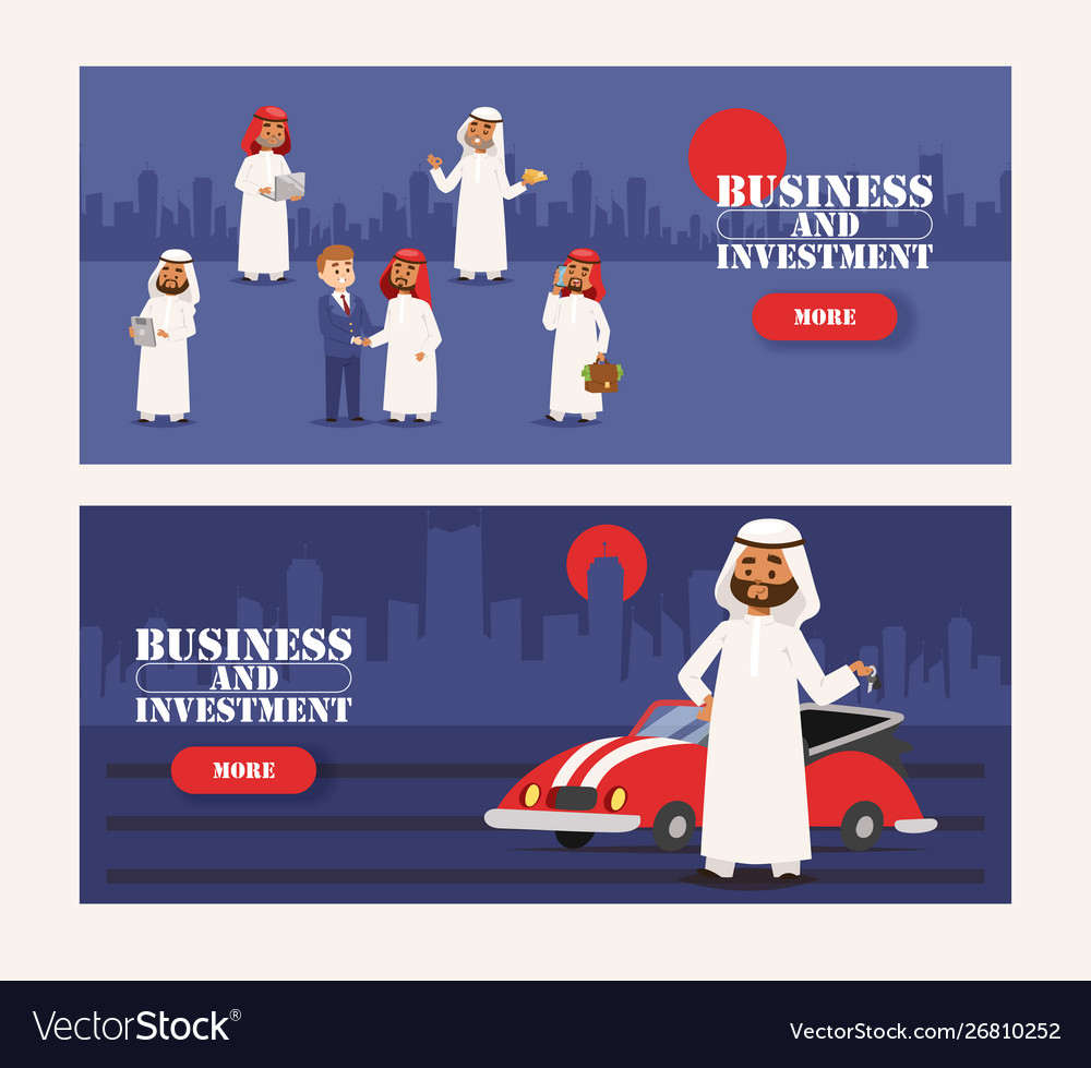 Arab businessman wearing traditional clothing and