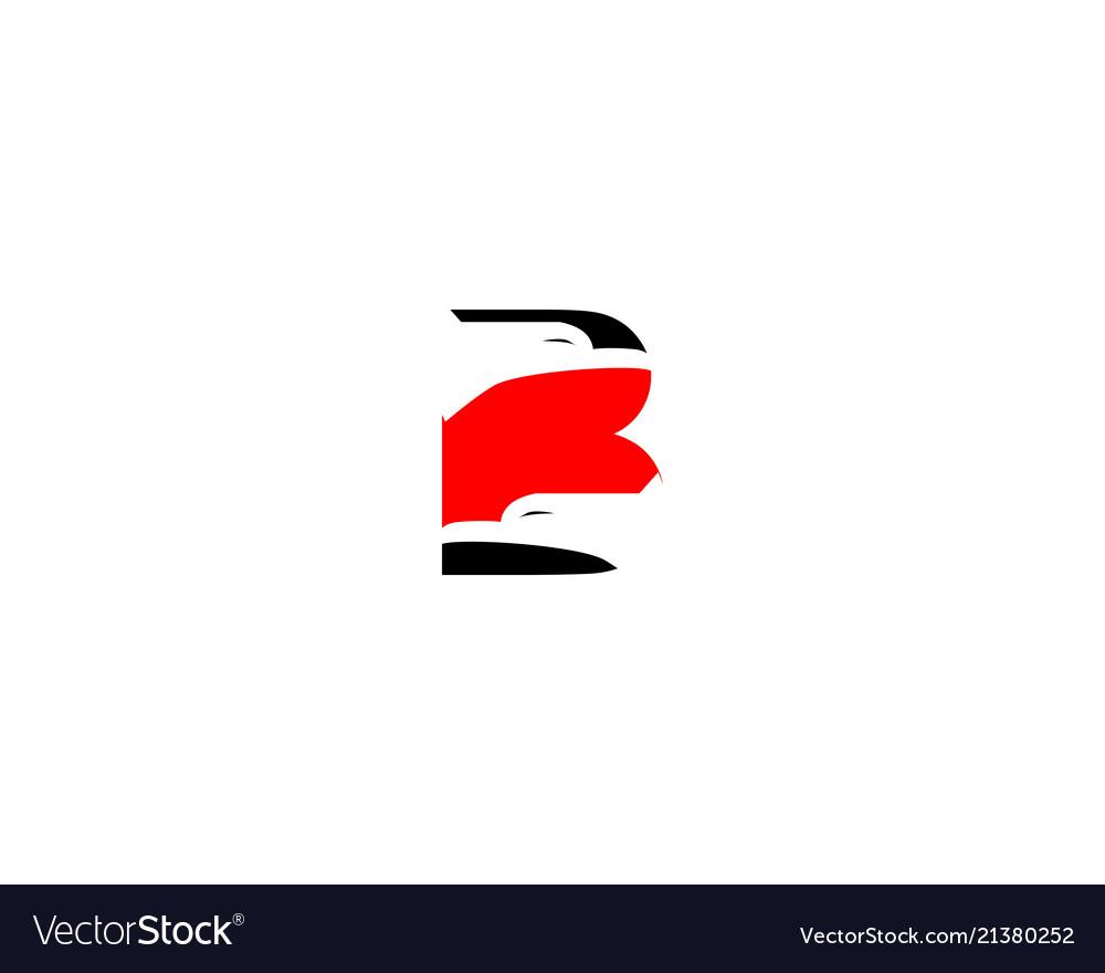 B letter eagle logo