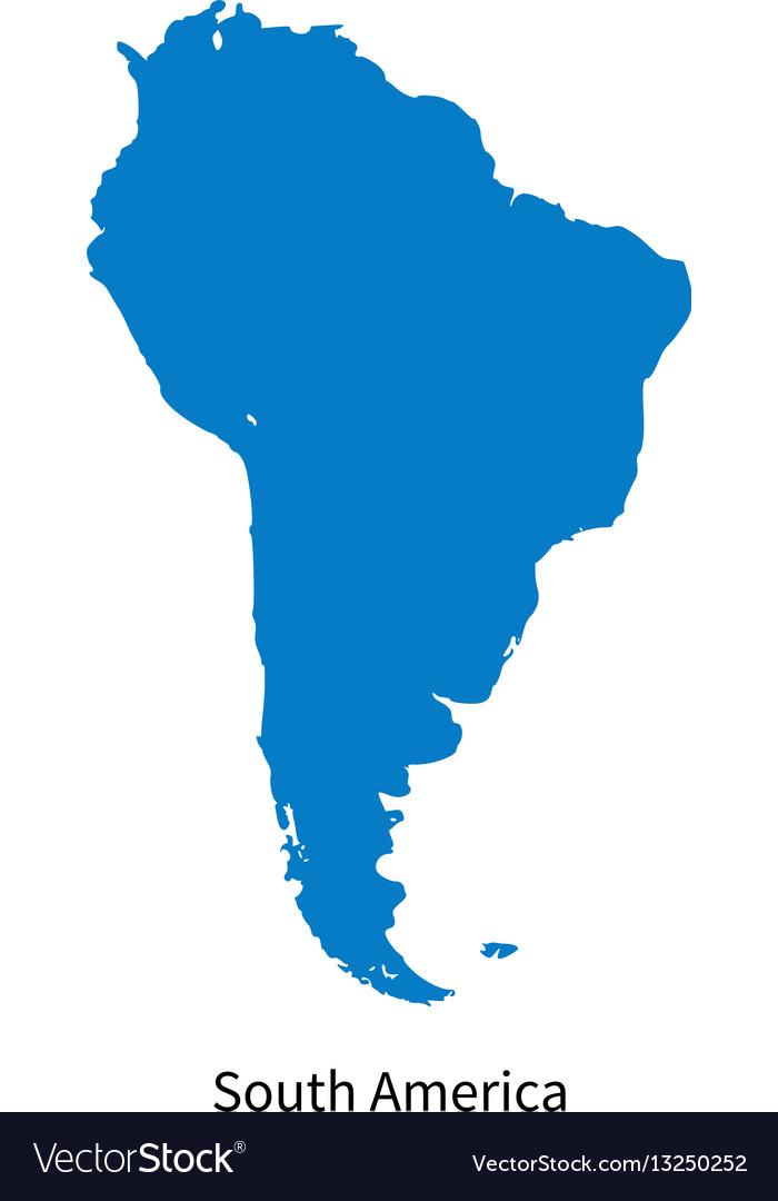 Detailed map of south america region vector image