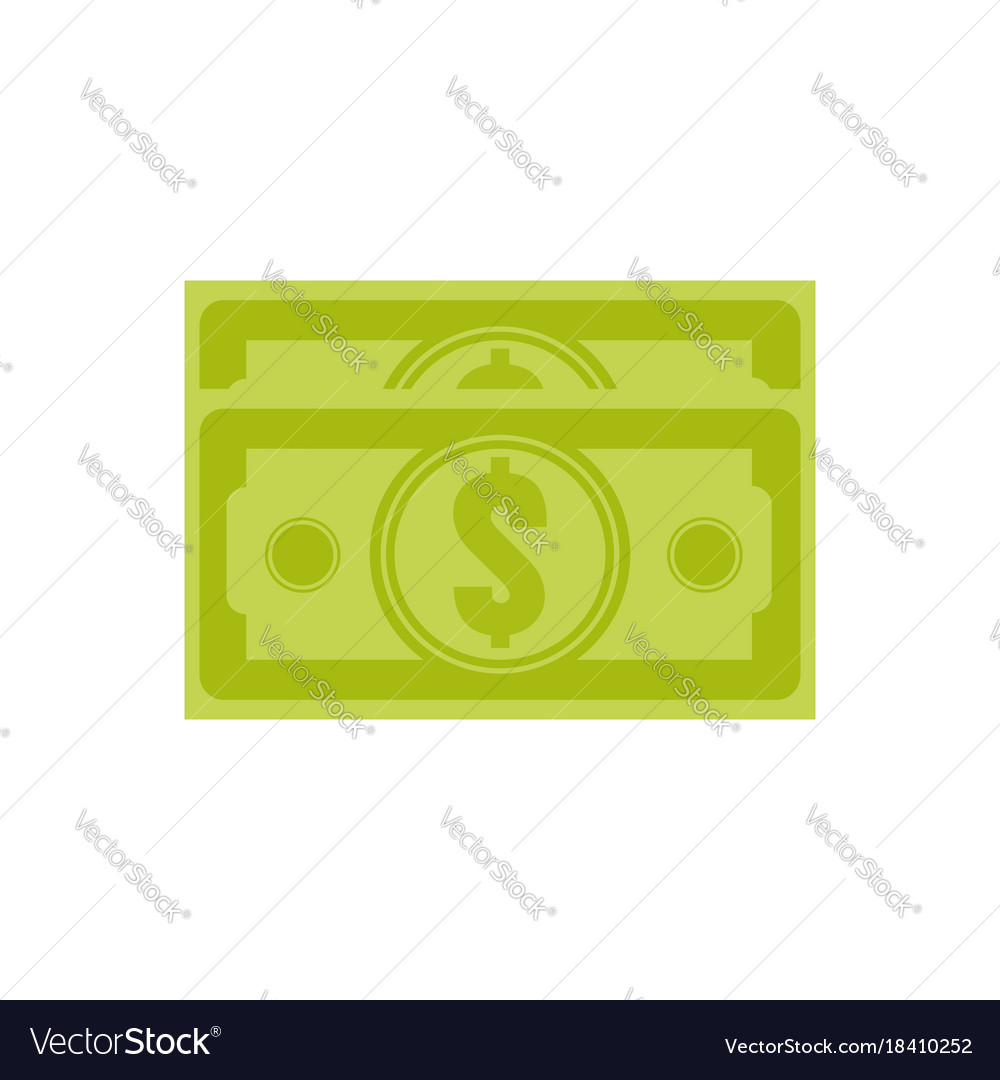 Dollar stack us vector image