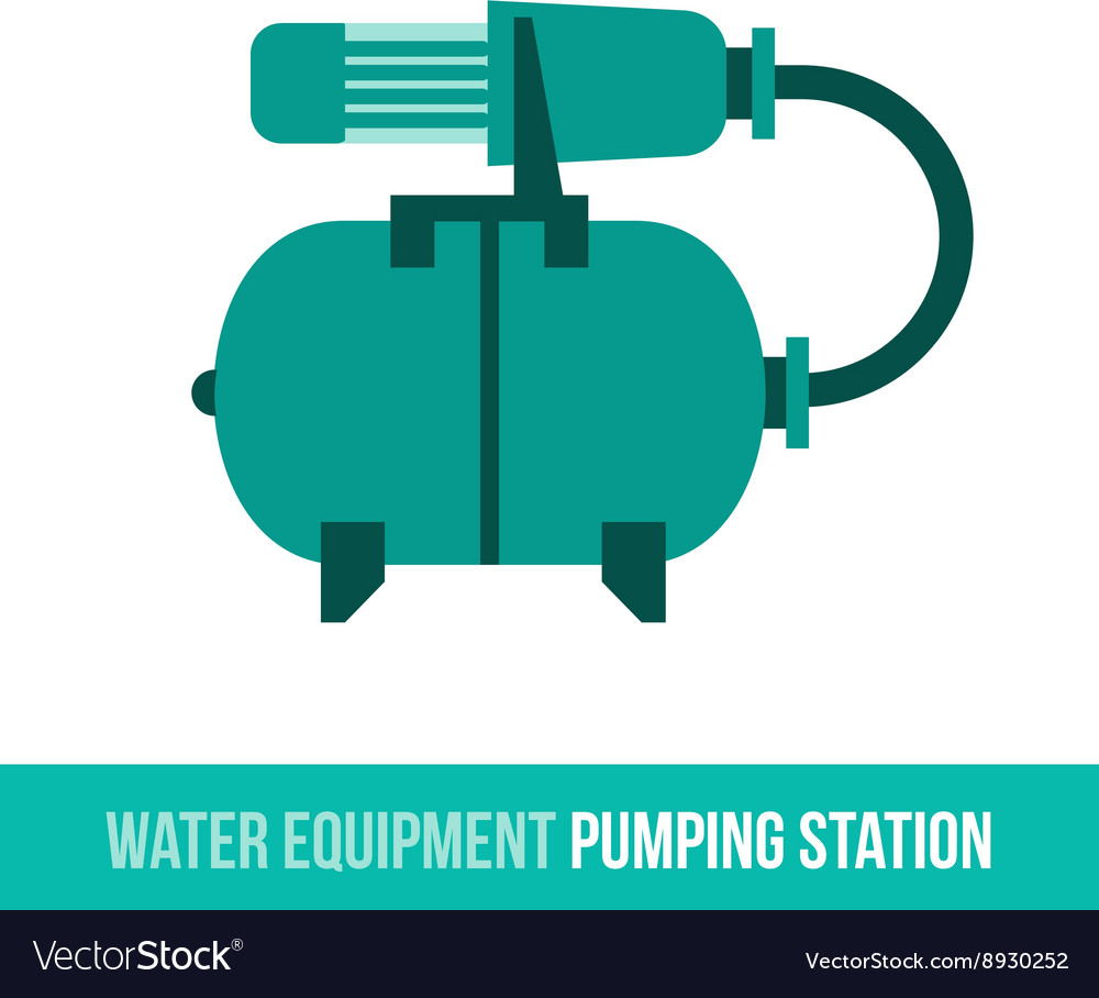 Flat icon water equipment